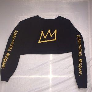 COPY - Rare Basquiat Graphic Crop Top